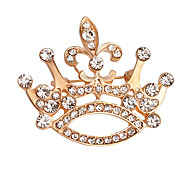 Women's Brooches Crystal Rhinestone Fashion Elegant Gold Plated Alloy Crown Jewelry For Daily Evening Party