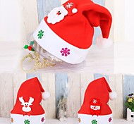 Недорогие -3pc ребенок приветствие рождественская шляпа дети взрослый Санта-Клаус олень снеговик партия милая шапка свадебное украшение beanie