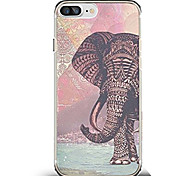 cheap -Case For Apple iPhone X iPhone 8 Ultra-thin Pattern Back Cover Elephant Soft TPU for iPhone X iPhone 8 Plus iPhone 8 iPhone 7 Plus iPhone