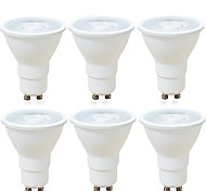 6pcs Dimmable 6W GU10/MR16(GU5.3) COB Spotlight 600LM Warm/Cool White LED Light Bulb AC220-240V