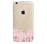 Недорогие -Назначение iPhone X iPhone 8 Чехлы панели Прозрачный С узором Задняя крышка Кейс для Цветы Мягкий Термопластик для Apple iPhone X iPhone