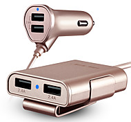HSC 600 Car Charger Fast Charge 4 USB Ports 4.8A DC 12V-24V