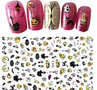 1 Стикер искусства ногтя Halloween 3-D Новый год Компоненты для самостоятельного изготовления Стикер макияж Косметические Ногтевой дизайн