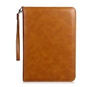 For iPad (2017) Case Cover Card Holder with Stand Flip Magnetic Auto Sleep/Wake Up Full Body Case Solid Color Hard Genuine Leather for