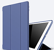 cheap -Case For Apple iPad Mini 4 iPad Mini 3/2/1 iPad 4/3/2 iPad Air 2 iPad Air with Stand Auto Sleep/Wake Up Full Body Cases Solid Color Hard