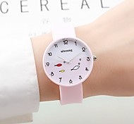 Women's Couple's Fashion Watch Chinese Quartz / Silicone Band Candy color Casual Elegant Black White Green Pink Navy