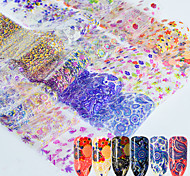 16 Nail Art Sticker  Pattern Accessories Lace Sticker 3D Nail Stickers 3-D Lace Sticker DIY Supplies Makeup Cosmetic Nail Art Design