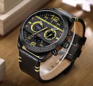 Men's Casual Watch Sport Watch Fashion Watch Wrist watch Unique Creative Watch Japanese Quartz Calendar / date / day Genuine Leather Band