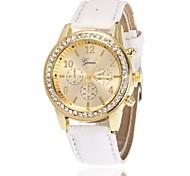 preiswerte -Damen Quartz Simulierter Diamant Uhr Armbanduhr Chinesisch Imitation Diamant PU Band Charme Freizeit Kleideruhr Elegant Schwarz Weiß Blau