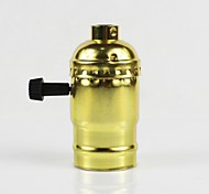 cheap -E26 Golden Aluminum Shell Antique Screw Edison Pendant Lamp Zipper Switch Lamp Holder