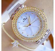 Недорогие -Жен. Модные часы Уникальный творческий часы Имитационная Четырехугольник Часы Японский Кварцевый Нержавеющая сталь Группа Серебристый