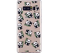 cheap -Case For Samsung Galaxy Ultra-thin Transparent Pattern Back Cover Panda Soft TPU for Note 8 Note 5 Edge Note 5 Note 4 Note 3 Lite Note 3