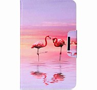 Flamingo Pattern Card Holder Wallet with Stand Flip Magnetic PU Leather Case for Samsung Galaxy TAB A 10.1 T580N T585N 10.1 inch Tablet PC