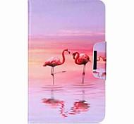 фламинго шаблон держатель карты кошелек с подставкой флип магнитный кожаный чехол pu для Samsung Galaxy Tab 10,1 t580n t585n 10,1-дюймовый