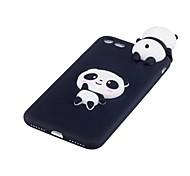 Недорогие -Кейс для Назначение Apple iPhone X Защита от удара Задняя крышка Панда 3D в мультяшном стиле Мягкий TPU для iPhone X iPhone 8 Plus iPhone