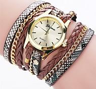 cheap -Women's Simulated Diamond Watch Bracelet Watch Fashion Watch Chinese Quartz Imitation Diamond PU Band Charm Casual Elegant Black White