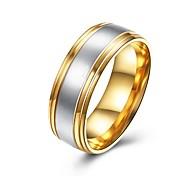 Недорогие -Муж. Классические кольца Бижутерия Базовый дизайн Мода Титановая сталь Круглый Бижутерия Назначение Для вечеринок Обручение Повседневные