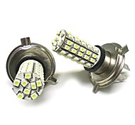 2PCS H4 1210 68SMD LED Light White