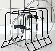 cheap -1pc Pot Lid Holders Metal Easy to Use Kitchen Organization