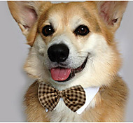 Cat Dog Tie/Bow Tie Dog Clothes Casual/Daily Bowknot White Yellow Brown Red Blue Costume For Pets