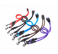 Leash Dog Double Leashes Portable Solid Nylon
