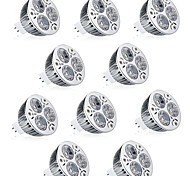 10pcs 6W MR16 LED Spotlight MR16 3 High Power LED 600lm Warm White Cold White Decorative DC12V 10pcs