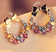 cheap -Women's Stud Earrings Rhinestone Bling Bling Classic Rhinestone Alloy Bowknot Jewelry For Daily Going out