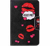 Word Pattern Card Holder Wallet with Stand Flip Magnetic PU Leather Case for Samsung Galaxy TAB A 10.1 T580N T585N 10.1 inch Tablet PC