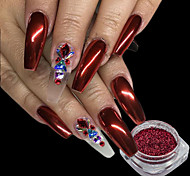 Недорогие -1pcs порошок / Порошок блеска / Гель для ногтей Элегантный и роскошный / Зеркальный эффект / Блеск и сияние Дизайн ногтей