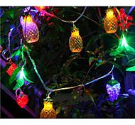 führte string licht früchte form 6 watt 10lm 10 mt 38 leds multi farbe ac220v