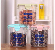 cheap -800ml Plastic Sealed Cans Kitchen Storage Box Transparent Food Canister