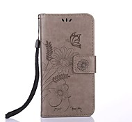 cheap -For iPhone X iPhone 8 Case Cover Wallet Card Holder with Stand Flip Embossed Pattern Magnetic Full Body Case Flower Hard PU Leather for