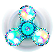 Fidget Spinner Hand Spinner Toys Tri-Spinner LED Spinner Plastic EDCLED light Stress and Anxiety Relief Office Desk Toys for Killing Time