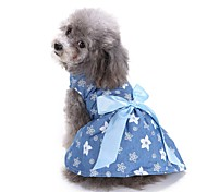 Cat Dog Coat Tuxedo Dress Dog Clothes Party Casual/Daily Cosplay Cowboy Wedding Floral/Botanical Blue