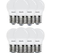 8pcs 3.5 E27 Bombillas LED de Globo 8 leds SMD 5730 Blanco 300lm 6500K AC220V