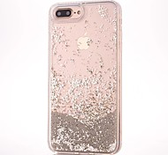 Custodia Per Apple iPhone 7 iPhone 7 Plus Liquido a cascata Custodia posteriore Glitterato Resistente PC per iPhone 7 Plus iPhone 7