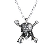 Men's Women's Pendant Necklaces Skull Alloy Hip-Hop Rock Jewelry For Ceremony New Year