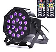 Недорогие -u'king zq-b194b-yk2 18 * 1w светодиоды фиолетового цвета auto dmx звук активирован парное освещение сцены с 2 пульта дистанционного