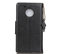Case For G5 Plus E4 Plus Card Holder Wallet Flip Full Body Solid Color Hard Genuine Leather for Moto G5 Plus Moto G5 Moto E4 Moto E4 Plus
