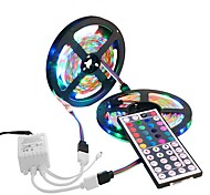 10M 3528 SMD 2x5M 300 Leds RGB Waterproof Flexible LED Strip Light 44 Key IR Remote For Home Decoration DC12V