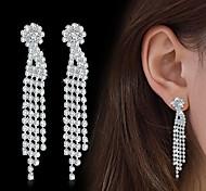 Women's Drop Earrings Rhinestone AAA Cubic Zirconia Fashion Elegant Cubic Zirconia Line Jewelry For Wedding Party