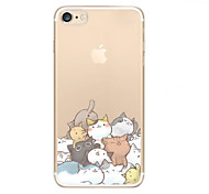 Case For iPhone X iPhone 8 Ultra-thin Transparent Pattern Back Cover Cat Soft TPU for iPhone X iPhone 8 Plus iPhone 8 iPhone 7 Plus