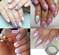 Недорогие -1Set Акриловый порошок / Гель для ногтей / Порошок блеска Элегантный и роскошный / Зеркальный эффект / Гель для ногтей Дизайн ногтей