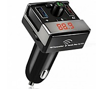 Dual USB Bluetooth Hands-Free MP3 Audio Player Car FM Transmitter Support TF Card USB Flash Disk For Android IOS ME3L