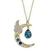 cheap -Women's Others Imitation Tourmaline Pendant Necklace  -  Fashion Simple Style Red Light Blue Necklace For Casual Valentine