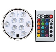 1set 4W LED Smart Bulbs Flower Diving Lamp 10 SMD 5050 200-250lm RGB Waterproof RGB Remote-Controlled Decorative DC4.5 V