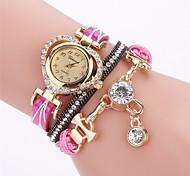 Недорогие -Жен. Модные часы Часы-браслет Имитационная Четырехугольник Часы Китайский Кварцевый PU Группа Богемные Повседневная Элегантные часы