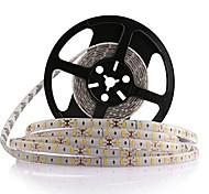 Недорогие -5 метров Наборы ламп 300 светодиоды Тёплый белый Белый Можно резать Водонепроницаемый Самоклеющиеся Компонуемый Декоративная 12V 1