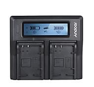 andoer lp-e17 двухканальное зарядное устройство для цифровой камеры для канона 750d / 760d rebel t6i / t6s eos m3 / m5 / m6 / 800d / 77d