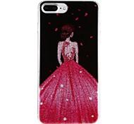 para la cubierta de la caja patrón imd carcasa trasera caso sexy dama pc duro para apple iphone 7 plus iphone 7 iphone 6s plus iphone 6